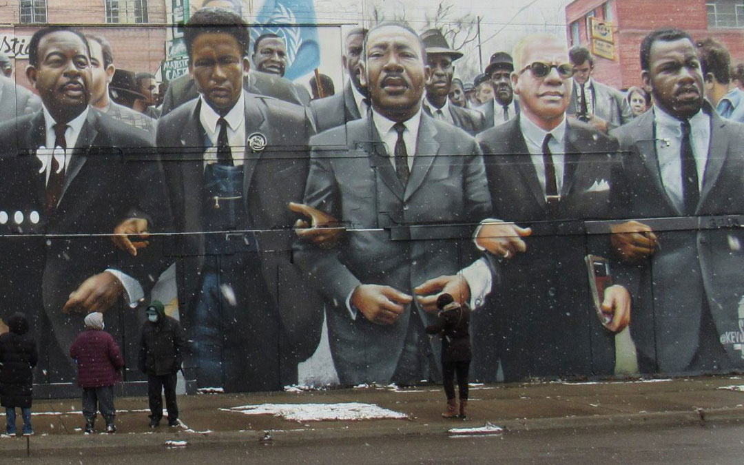 Small, Spirit-Filled MLK Celebration Led by Local Baha'i Group Shines Light on Peace Garden and New Mural